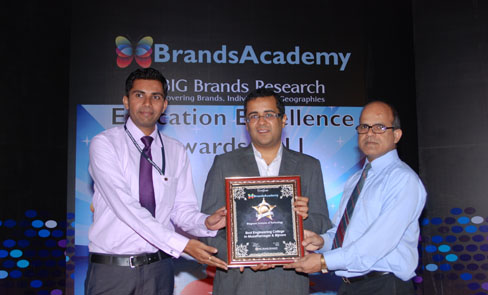 Best Engineering College Award By Shri Chetan Bhagat