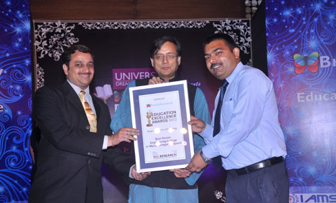 award by dr. Shashi Tharoor- Central Minister